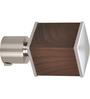 Kipwel Brown Steel 3 x 2 Inch S-Qu-13 Curtain Bracket - Set of 2