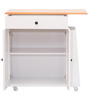 Kenji Kitchen Cabinet in White and Cherry Finish by Mintwud