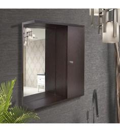 Klaxon Brown Engineered Wood Bathroom Mirror Cabinet