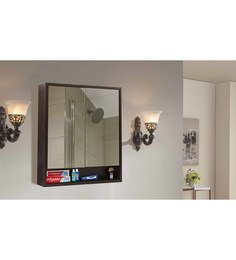 Klaxon Brown Engineered Wood Bathroom Mirror Cabinet - 1590388