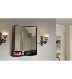 Klaxon Brown Engineered Wood Bathroom Mirror Cabinet - 1590388