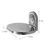 Klaxon Armano Steel Bath Set (Soap Dish, TBH, Napkin Ring, Pack Of 2 Pcs Each)