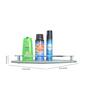 Klaxon Brass & Glass Bathroom Shelf