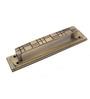 Klaxon Marvel  Brass Door Handle (Chrome Finish, 6 Inch)