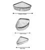 Klaxon Silver Brass 3 Pc Wire Corner Shelf Combo Set