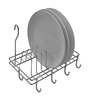 Klaxon Stainless Steel Hanging Cup & Saucer Holder Stand For Kitchen