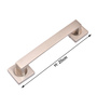 Klaxon Tusk Brass 2 x 2 x 8 Inch Concealed Rose Handle Door Handle