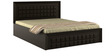 Kosmo Choco Queen Bed with Hydraulic Storage in Vermont Color by Spacewood