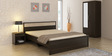 Kosmo Duet Queen Bed in Fumed Oak Finish by Spacewood