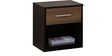 Cosmos Queen Bed with Hydraulic Storage & Side Table in Wenge Color by Spacewood