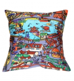 Komfi Digital Carnival Cushion Cover (Set Of 2)