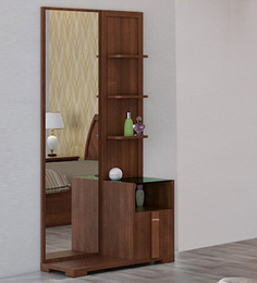 Upto 38% Off on Spacewood Furniture | Kosmo Grace Dressing Table in Rigato Walnut Finish @ Rs.7,599