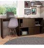 Koko Study Desk with Book Shelf in Tobacco Finish by Mintwud