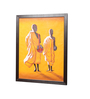 Kokoon Canvas 30 x 0.5 x 38 Inch Two Monks Wall Painting