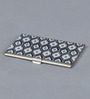 Kolorobia on the Go Metal Blue & White Stimulating Ikat Visiting Card Holder