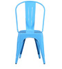 Ekati Metal Chair in Blue Color by Bohemiana