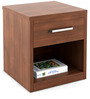 Kosmo Arena Bed side Table in Rigato Walnut Finish by Spacewood