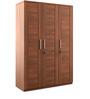 Kosmo Arena Three Door Wardrobe in Rigato Walnut Finish by Spacewood
