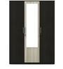 Kosmo Delta Three Door Wardrobe with Mirror by Spacewood