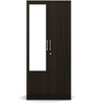 Kosmo Duet Two Door Wardrobe with Mirror in Fumed Oak Finish by Spacewood