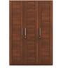 Kosmo Grace Three Door Wardrobe in Rigato Walnut Finish by Spacewood