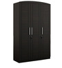Kosmo Imperial Three Door Wardrobe in Natural Wenge Colour by Spacewood