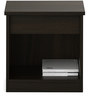 Kosmo Spin Bedside Table in Fumed Oak Finish by Spacewood