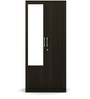 Kosmo Spin Two Door Wardrobe with Mirror in Fumed Oak Finish by Spacewood