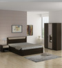 Kosmo Stark Three Door Wardrobe with Mirror in Fumed Oak & Mountain Larch Finish by Spacewood