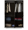 Kosmo Weave Three Door Wardrobe with Mirror in Vermount Colour by Spacewood