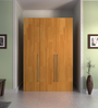 Kouki Three Door Wardrobe in Oak Finish by Mintwud