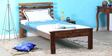 Kronos Single Size Bed in Provincial Teak Finish by Woodsworth