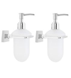 KRM Decor Platinum Acrylic Soap Dispenser - Set Of 2