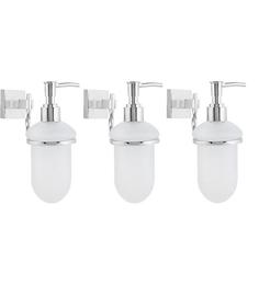 KRM Decor Topaz PVC Soap Dispenser - Set Of 3