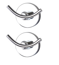 KRM Decor Moonstone Brass Clothes Hook - Set Of 2