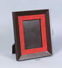 Kraftsmen Brown & Red Faux Leather & Fabric 8 x 10 Inch Photo Frame