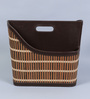 Kraftsmen Brown Faux Leather & Chic Brown Magazine Holder