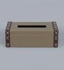 Kraftsmen Grey & Brown PU Tissue Box