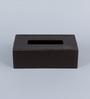Kraftsmen Handcrafted Brown PU Tissue Box
