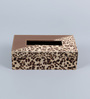 Kraftsmen Handcrafted Leopard Printed Multicolour PU Tissue Box