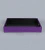 Kraftsmen Purple PU & Fabric Serving Tray
