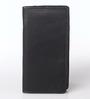 KRIO Designs PU Leather Black & Red Zippered Passport Holder Case