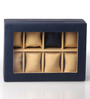KRIO Designs PU Leather Blue 8-case Magnetic Watch Box
