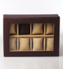 KRIO Designs PU Leather Brown 8-case Magnetic Watch Box