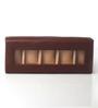 KRIO Designs PU Leather Rich Brown 5-case Watch Box