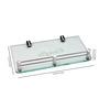 Krm Decor Metallic Brass & Glass Bath Storage 1 Pc