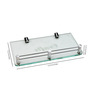 Krm Decor Metallic Brass & Glass Bath Storage 1 Pc