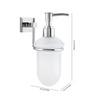 KRM Decor Solitaire Brass & Glass Soap Dispenser