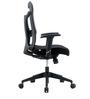 Kruz Series B Medium Back Office Chair in Black colour by BlueBell Ergonomics
