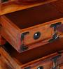 Ityaka Bed Side Table in Honey Oak Finish by Mudramark